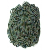 Seedbead Opaque Green Iris 8/0 Strung